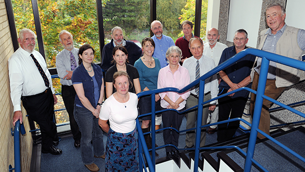 Members of the BAOHP team at BAS, Cambridge, 2010. Photographer Chris Gilbert.